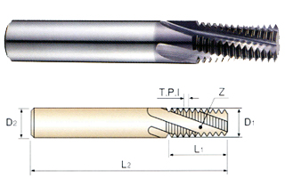 ANSI B 1.1 5//16 Size YG-1 TE460 Solid Carbide Thread Mill for Unified Internal Threads 24 Pitch TiAlN Finish